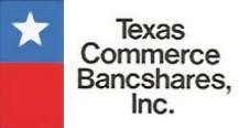 Texas Commerce Bancshares Logo